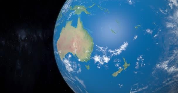 Polynésie, Mikronésie a Melanésie na planetě Zemi, pohled z vesmíru