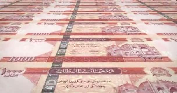 Banknoten von 1000 Afghani Afghanistans, bares Geld