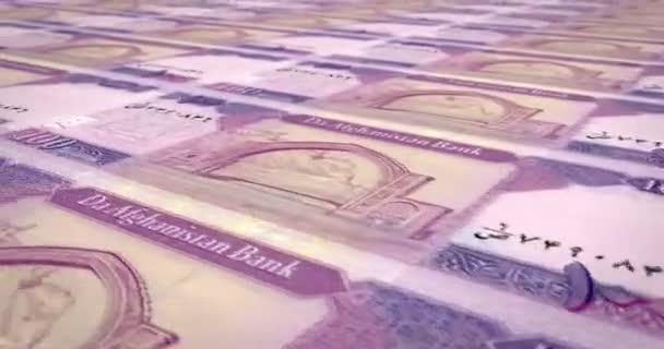 Banknoten von 100 Afghani Afghanistans, bares Geld