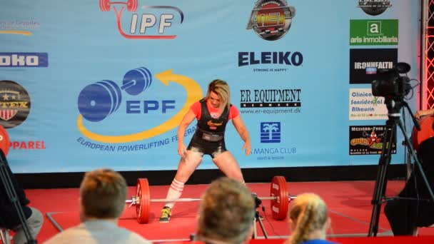 Weightlifter during a powerlifting championship, dead lift test