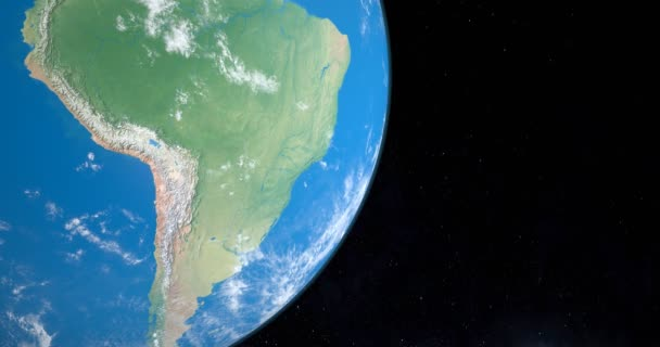 Andes or Andean Mountains in south america continent planet earth, aerial view from outer space