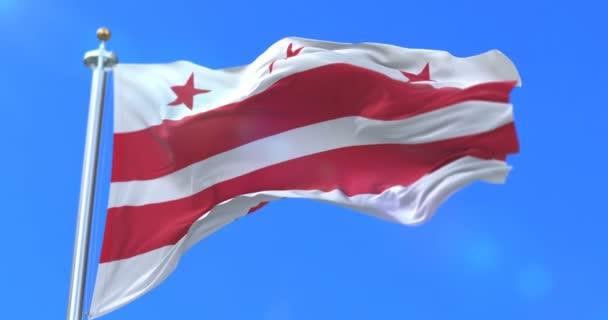 Flag of Washington city, city of United States of America - loop