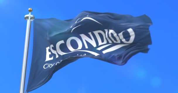 Flag of Escondido, city of California in United States of America - loop