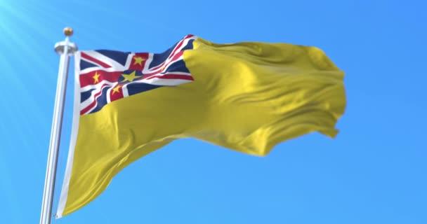 Zászló a sziget ország Niue Új-Zélandon. Hurok