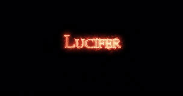 Lucifer tűzzel írt. Hurok