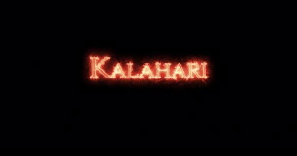 Kalahari psal ohněm. Smyčka