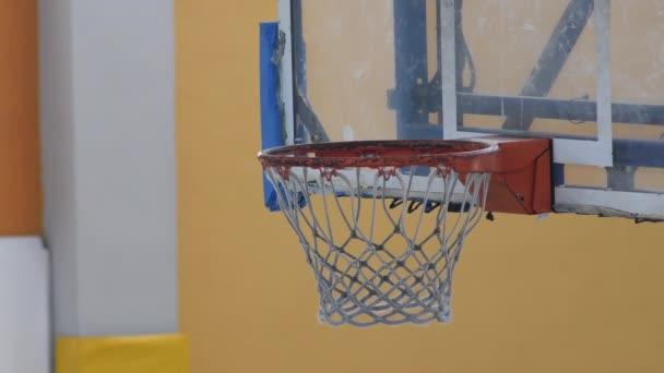 Basket point during a basketball match