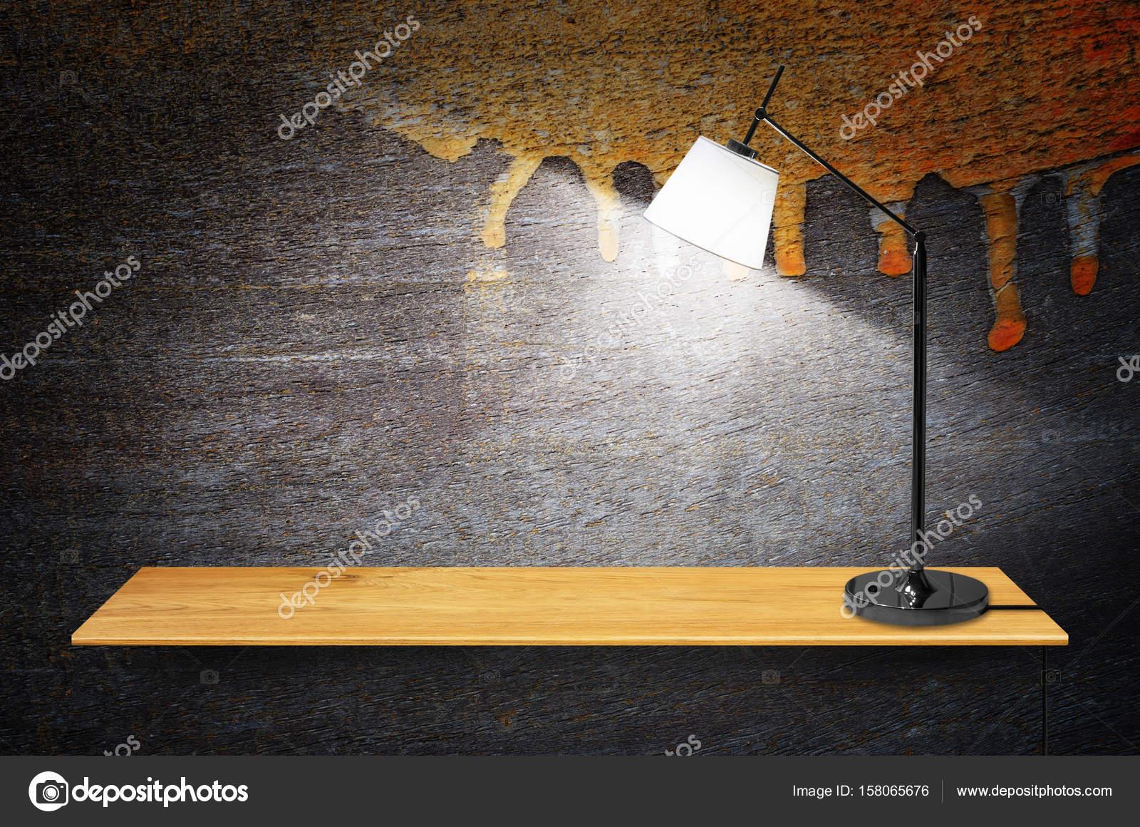 lamp op houten boekenkast — Stockfoto © nirutdps #158065676