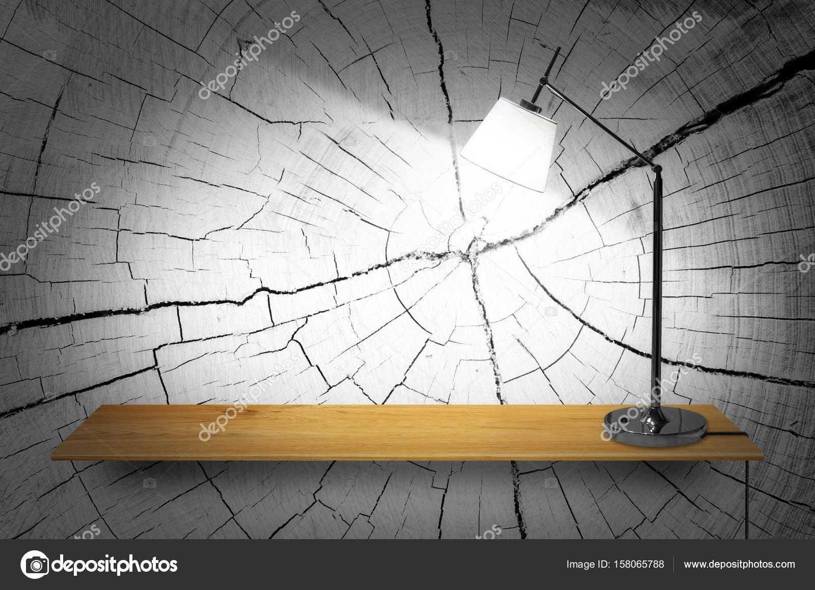 lamp op houten boekenkast — Stockfoto © nirutdps #158065788