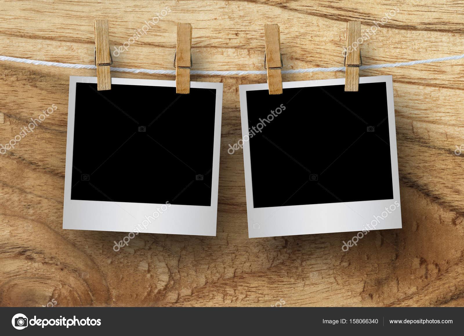 Marcos en blanco con pinzas para la ropa — Fotos de Stock © nirutdps ...