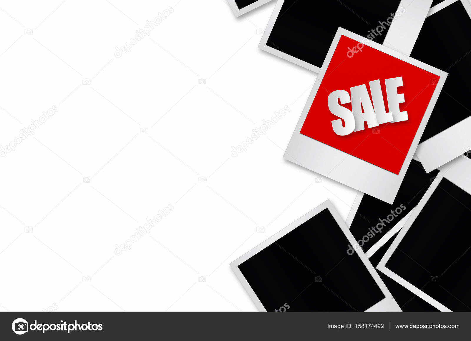 Verkauf-Label in Bilderrahmen — Stockfoto © nirutdps #158174492