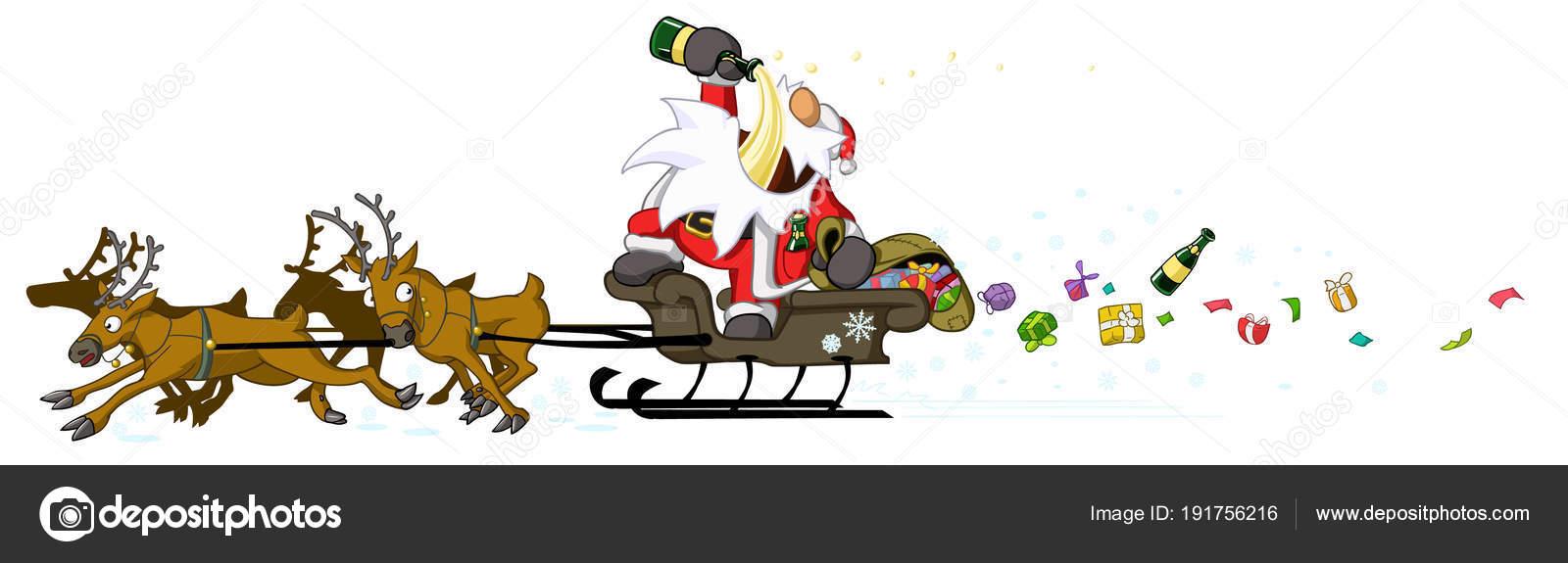 Party Christmas Cartoon Drunk Driving Stock Vector C Higyou 191756216