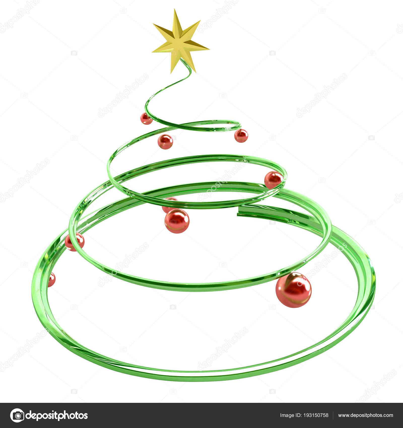 Weihnachtsbaum Metall Spirale.Weihnachtsbaum Spirale Stockfoto Higyou 193150758