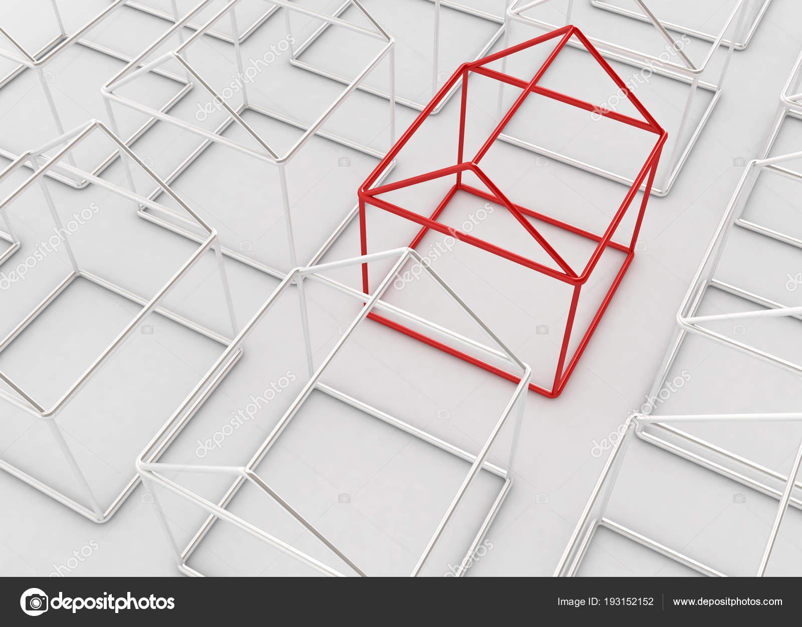 Outline Houses — Stock Photo © higyou #193152152