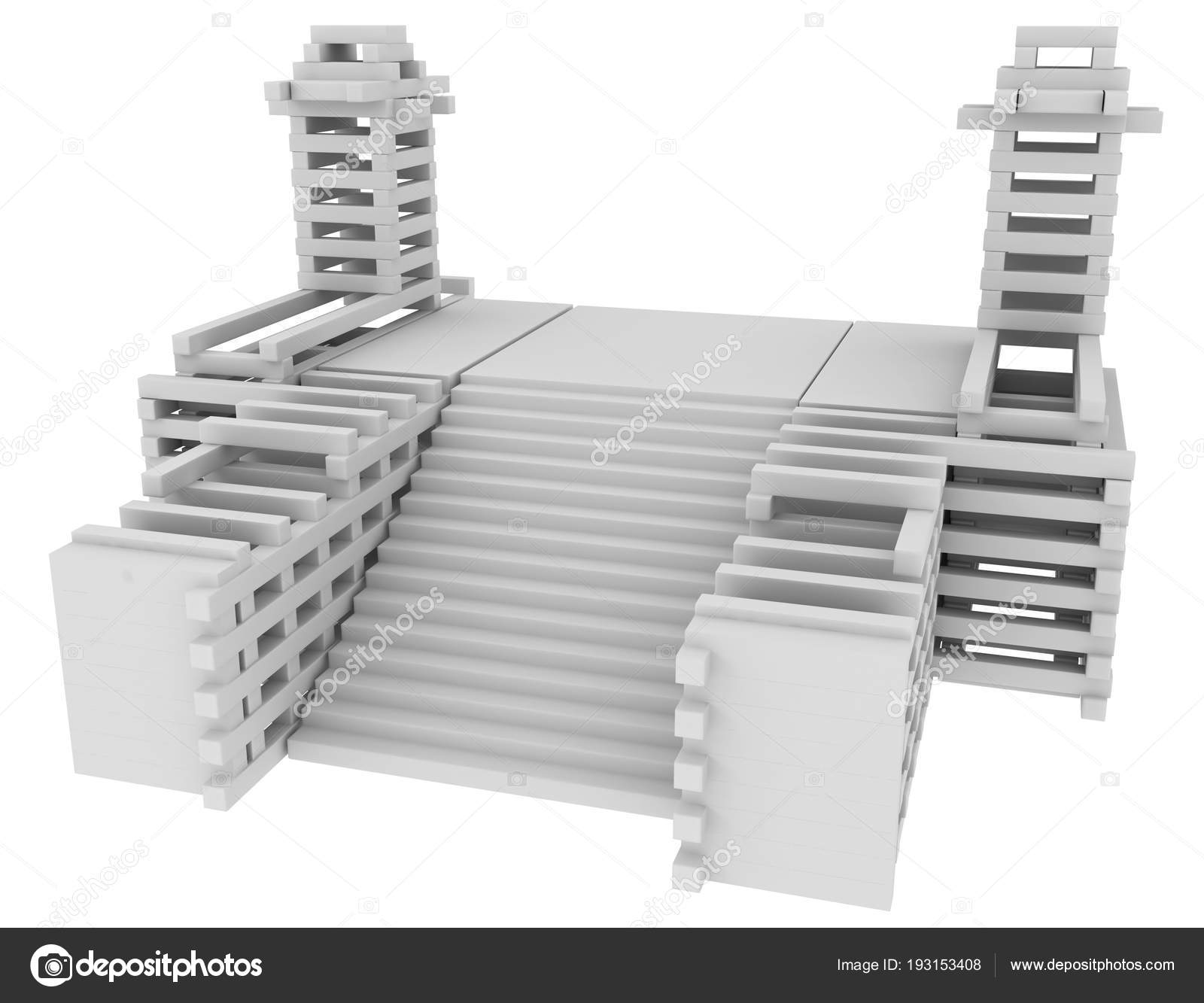 Wide Stair Construction U2014 Stock Photo