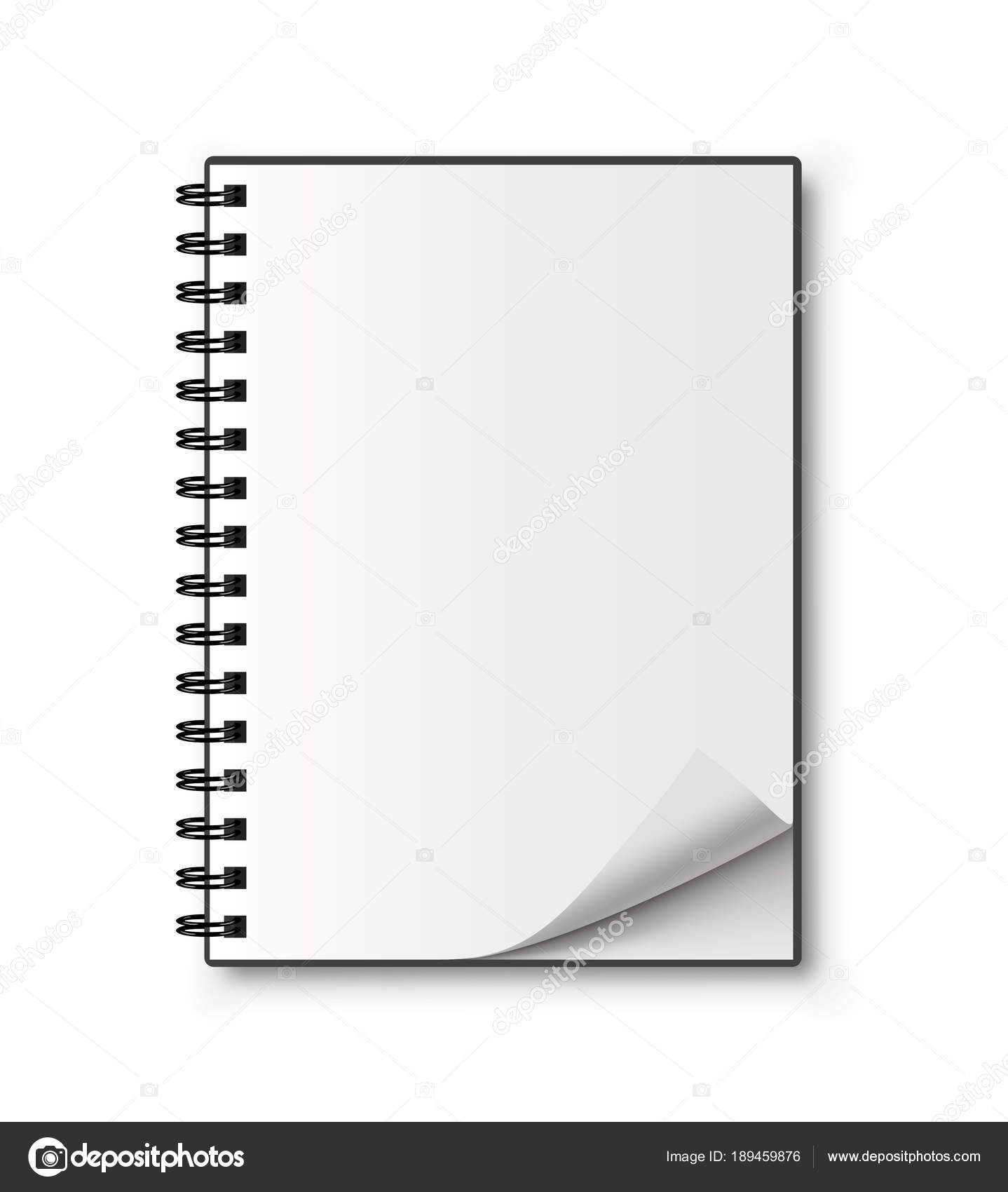 realistic spiral notebook blank notepad vector stock vector
