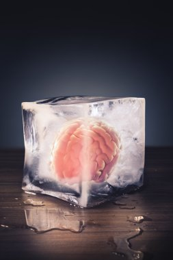 brain freeze concept isolated