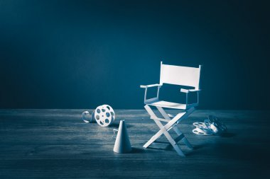 Director chair and several movie items