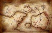 Fotografie ilustrace mapa pokladů