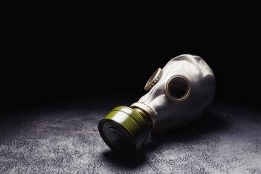 gas mask on nuclear aftermath