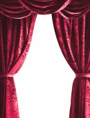 Fotografie theater curtain on white background