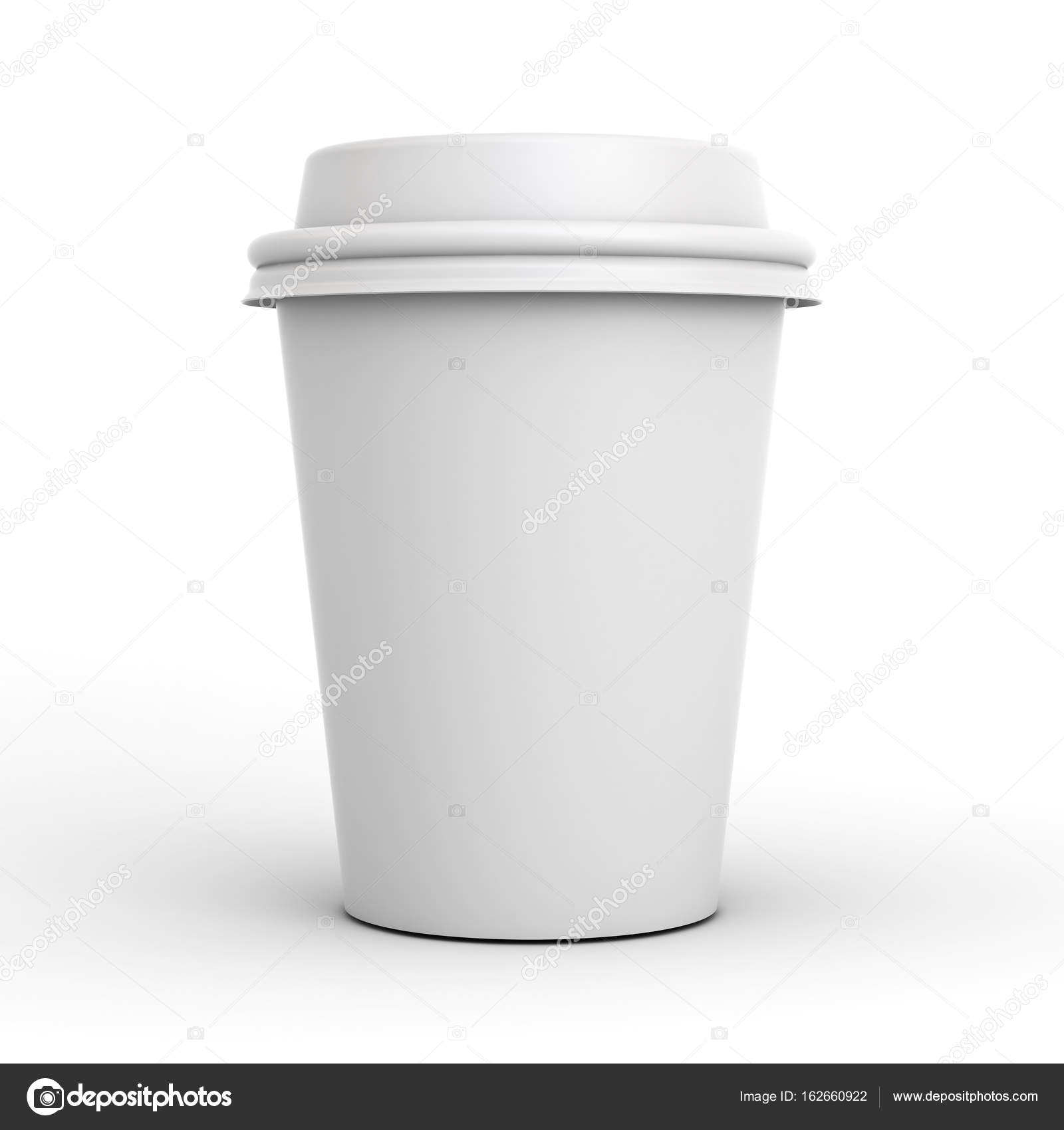0b9cfafaa9e Blank coffee cup isolated on white background with shadow . 3D ...