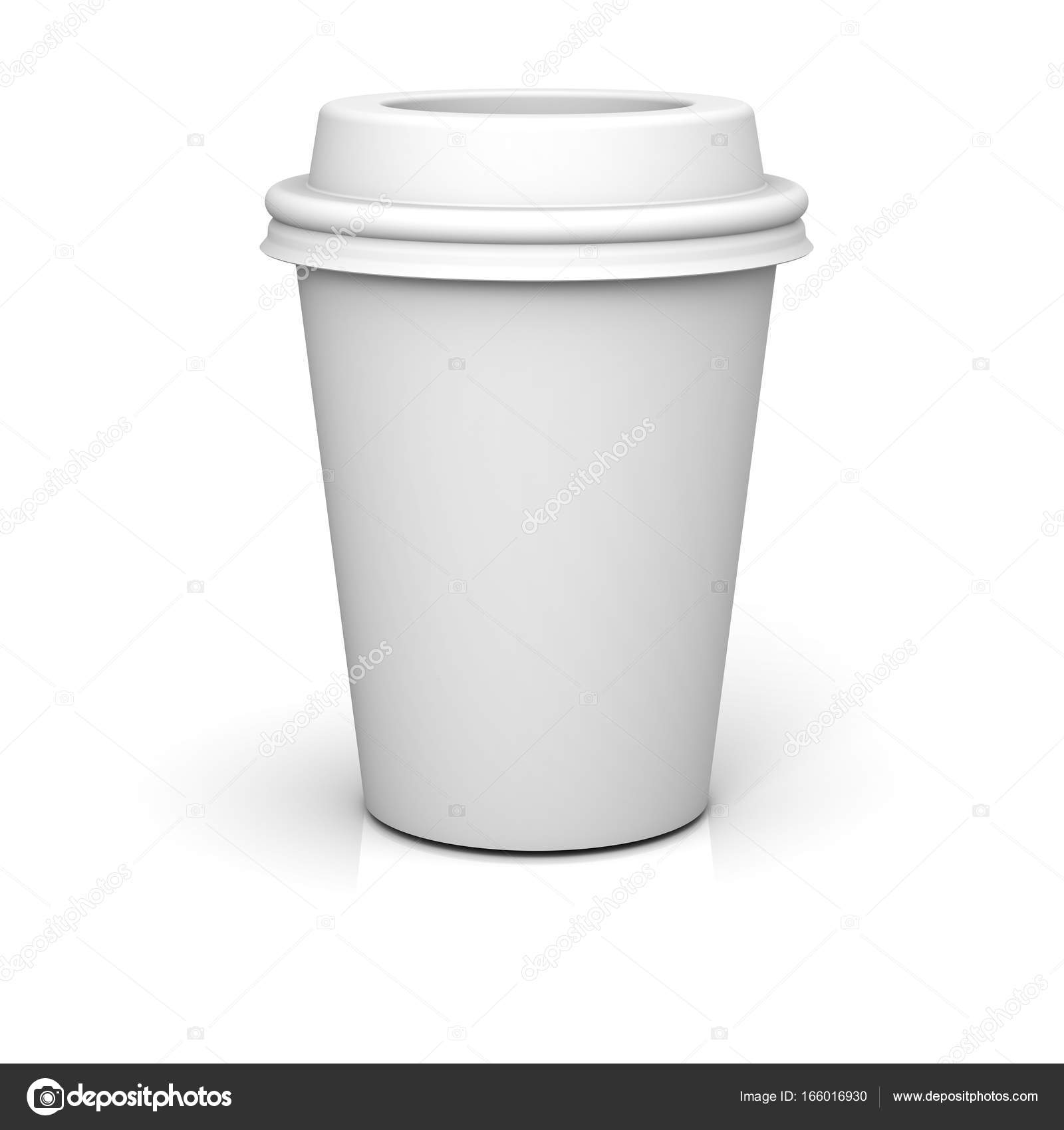 0ed1e8d1d40 Blank coffee cup isolated on white background with shadow and ...