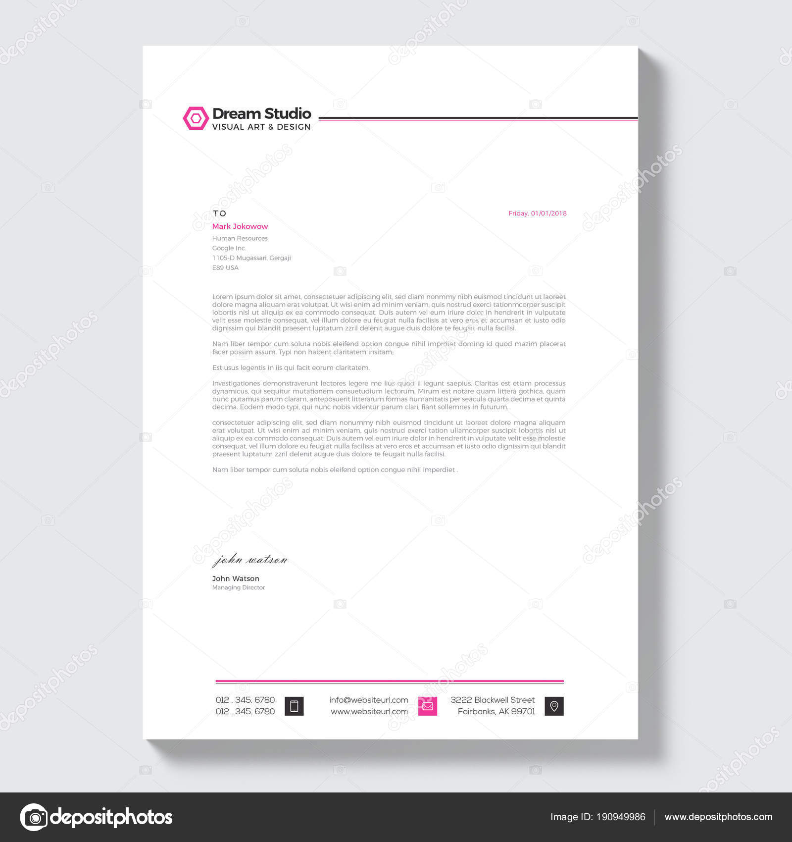 Professional Letterhead Template Vector Stock Vector Dreamstudio