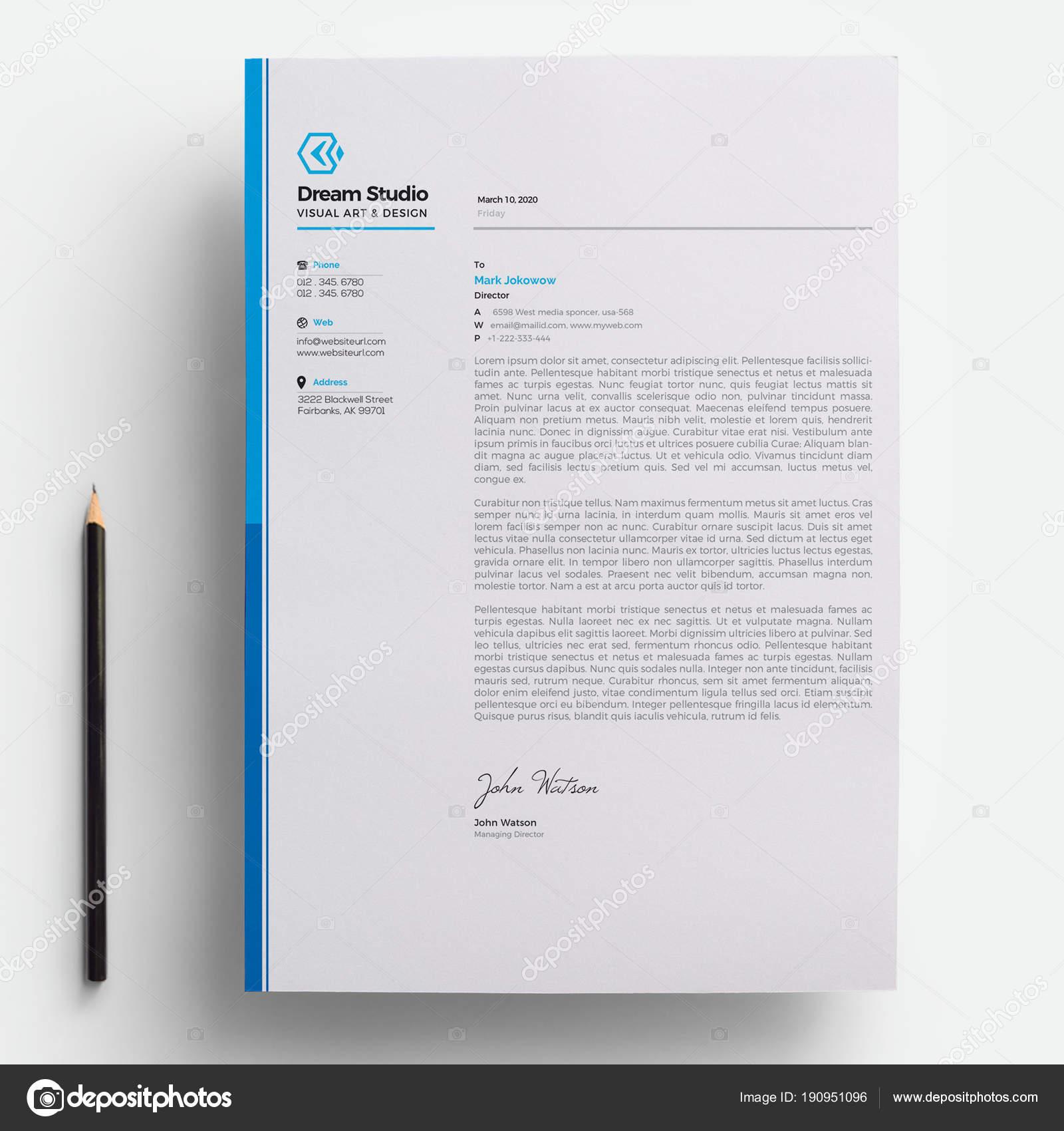 Modern company letterhead template stock vector dreamstudio eg modern company letterhead template stock vector thecheapjerseys Gallery