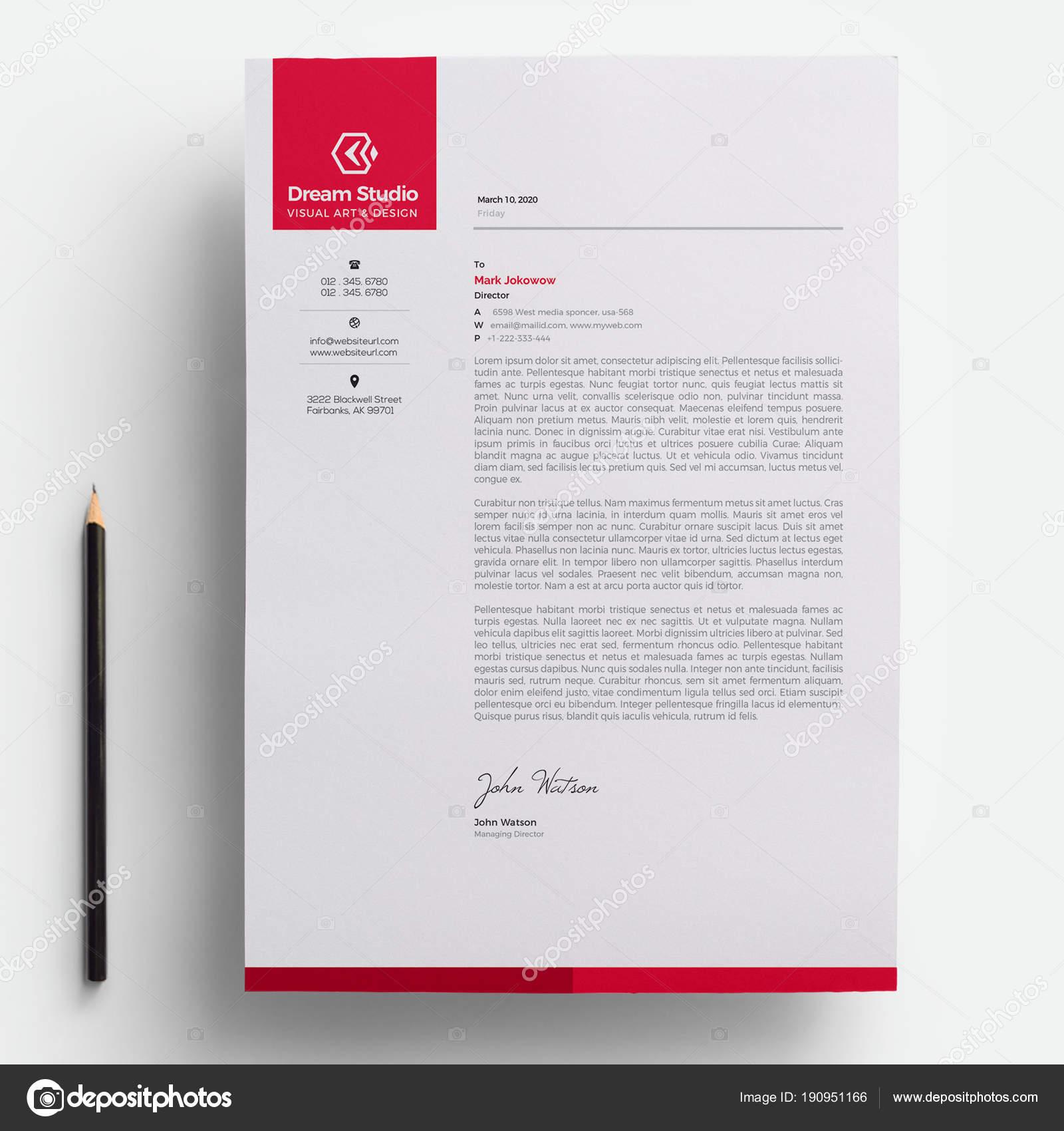 Modern Company Letterhead Template — Stock Vector © DreamStudio-eg ...