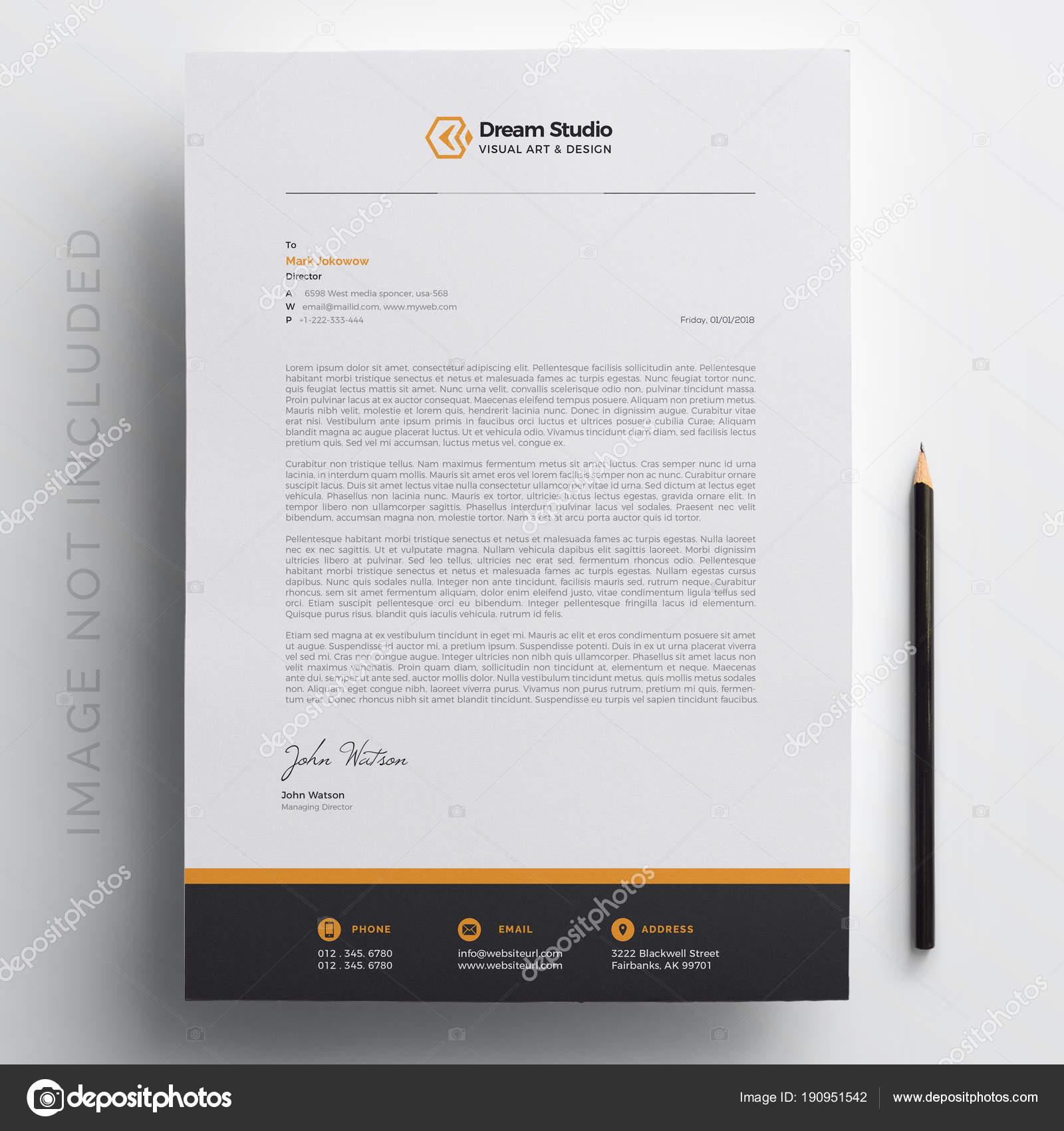 Modernes Unternehmen Briefkopf Vorlage Stockvektor Dreamstudio