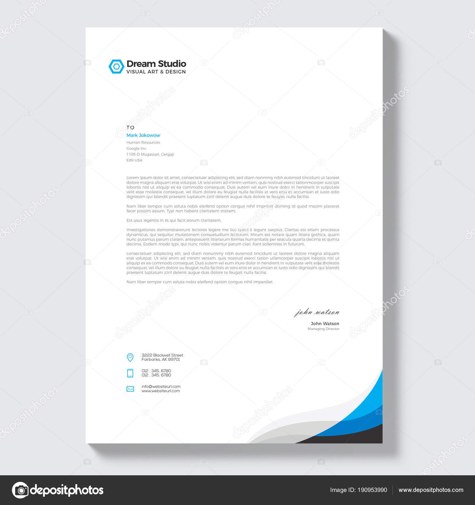 Modern company letterhead template stock vector dreamstudio eg modern company letterhead template stock vector thecheapjerseys Choice Image