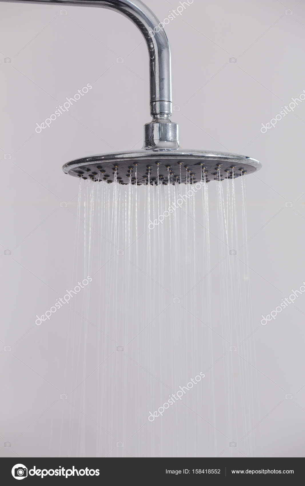 rain shower head in bathroom — Stock Photo © geargodz #158418552