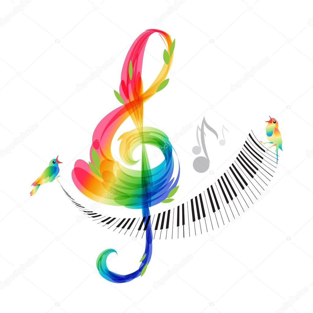 Imágenes Musica Clave De Sol Vector De Teclado De Diseño Clave