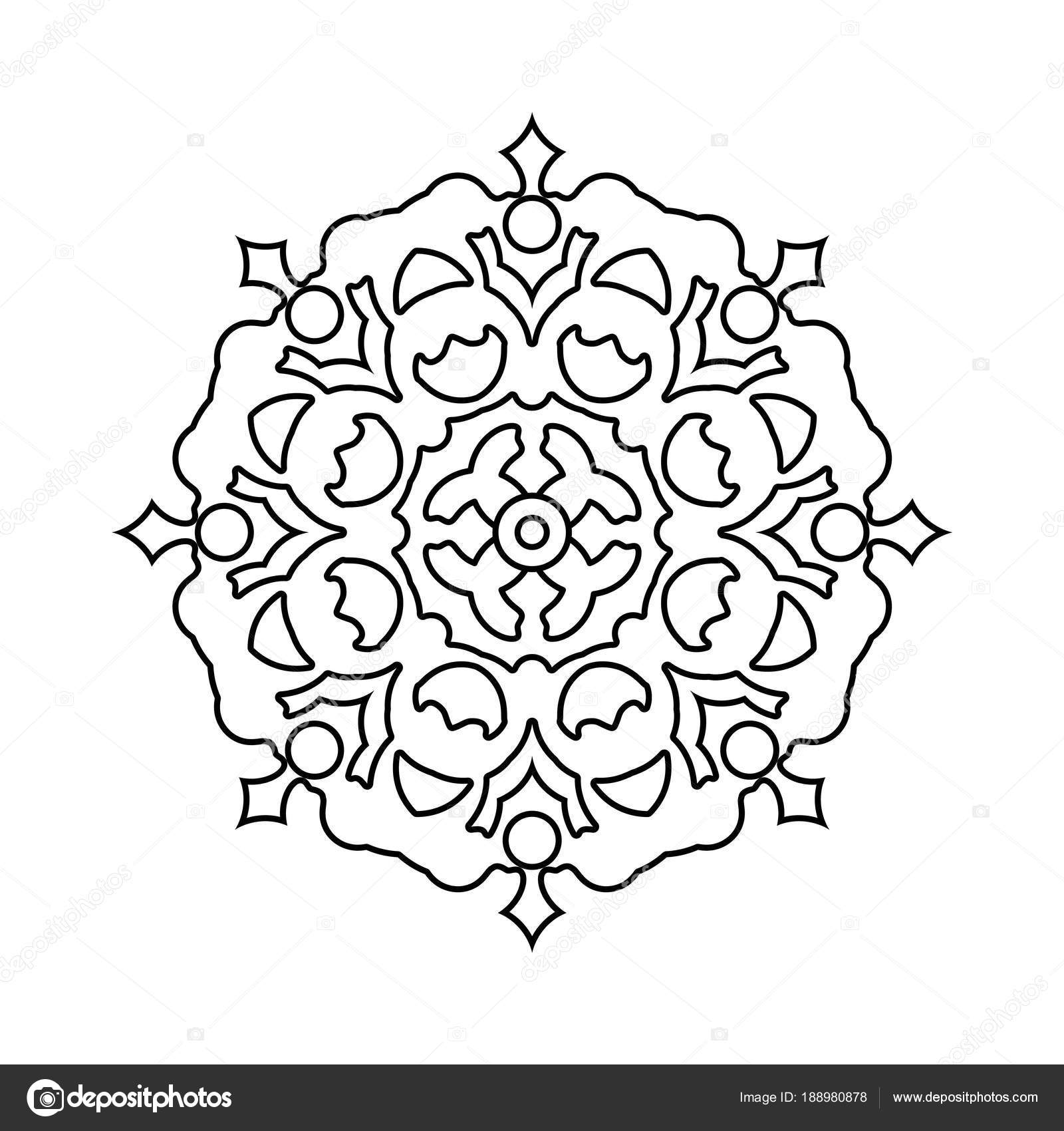 Abstract Floral Outline Stock Vector C Flowersmile 188980878