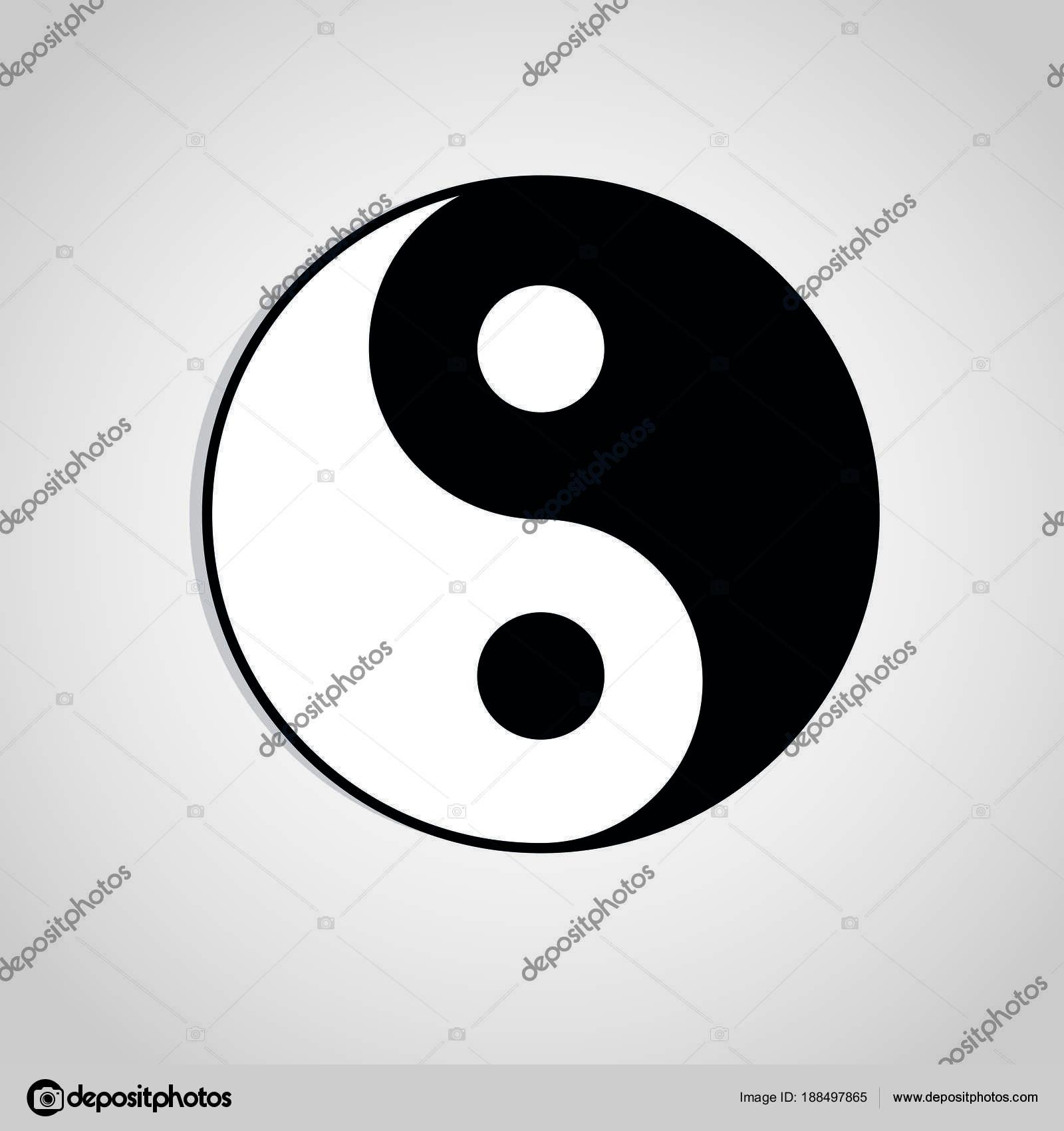 Yin Yang Symbol Sign Abstract Asian Icon Vector Stock Vector