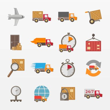 Variety of supply elements set icon