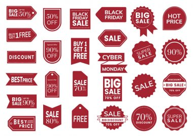 Price sales tag vector set