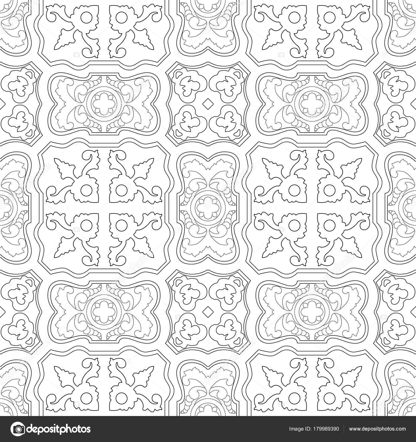 Portuguese tiles pattern. Vintage background. Vector ...