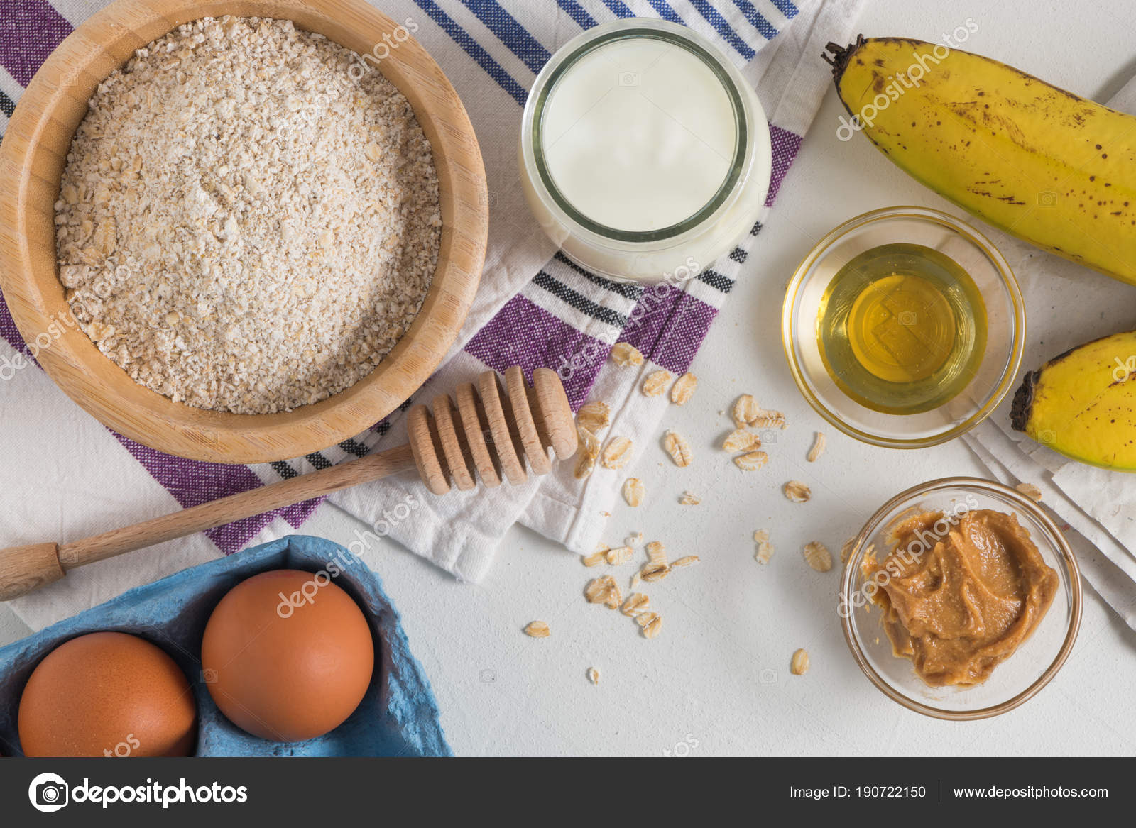 Ingredientes Para Hacer Masa De Panqueques Foto De Stock