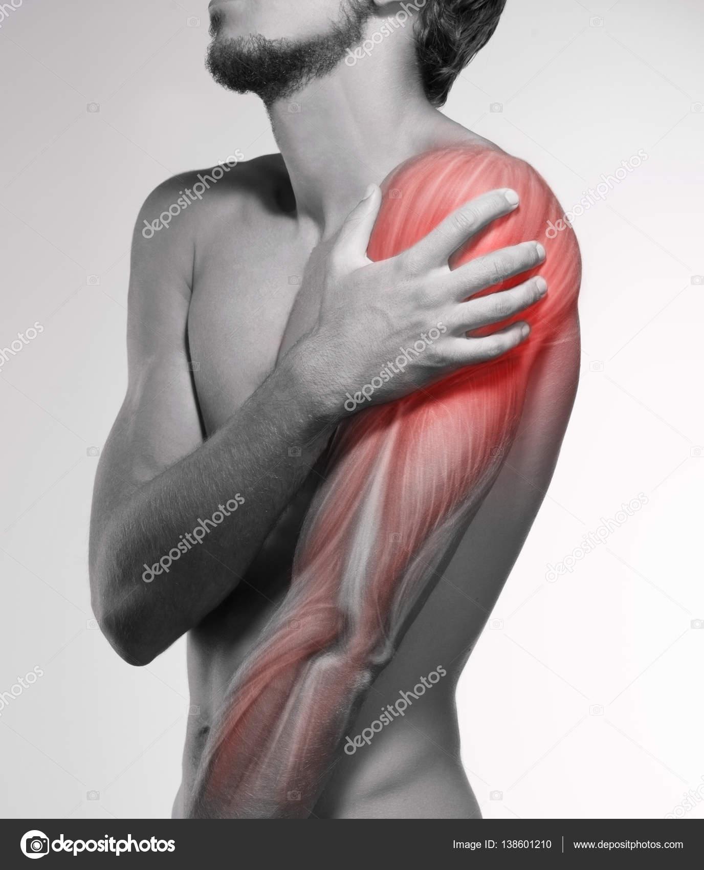 Menschlichen Arm-Schmerzen. Anatomie des menschlichen Armes ...