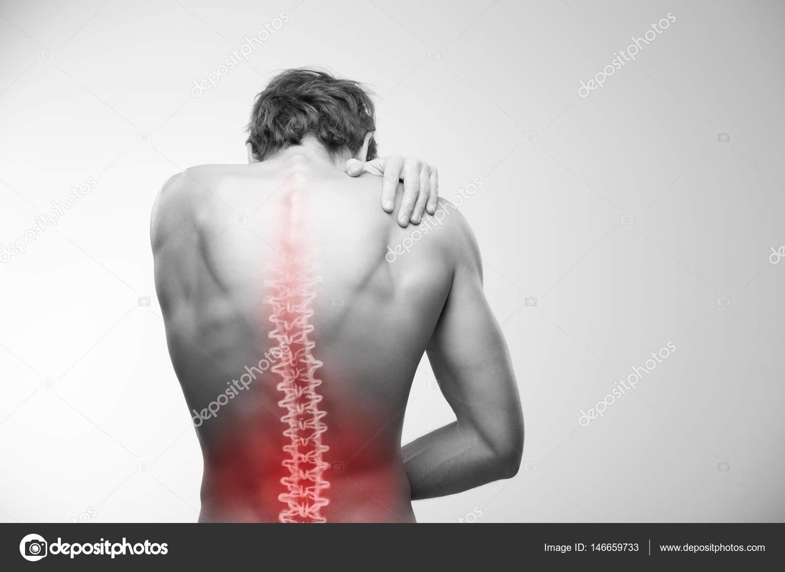 dolor lumbar — Foto de stock © artstudio_pro #146659733