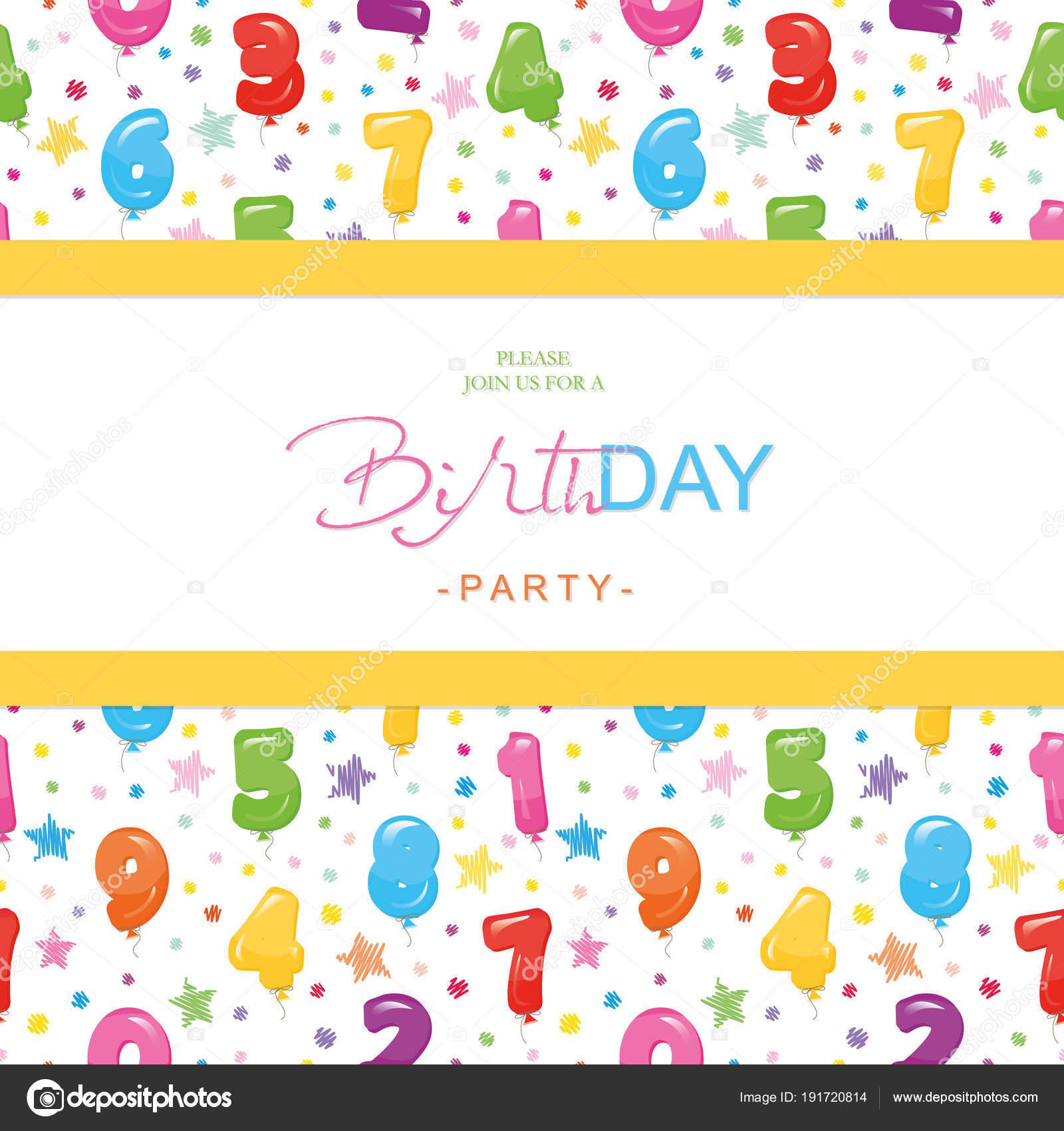 Tarjeta De Invitación De Fiesta De Cumpleaños Para Niños