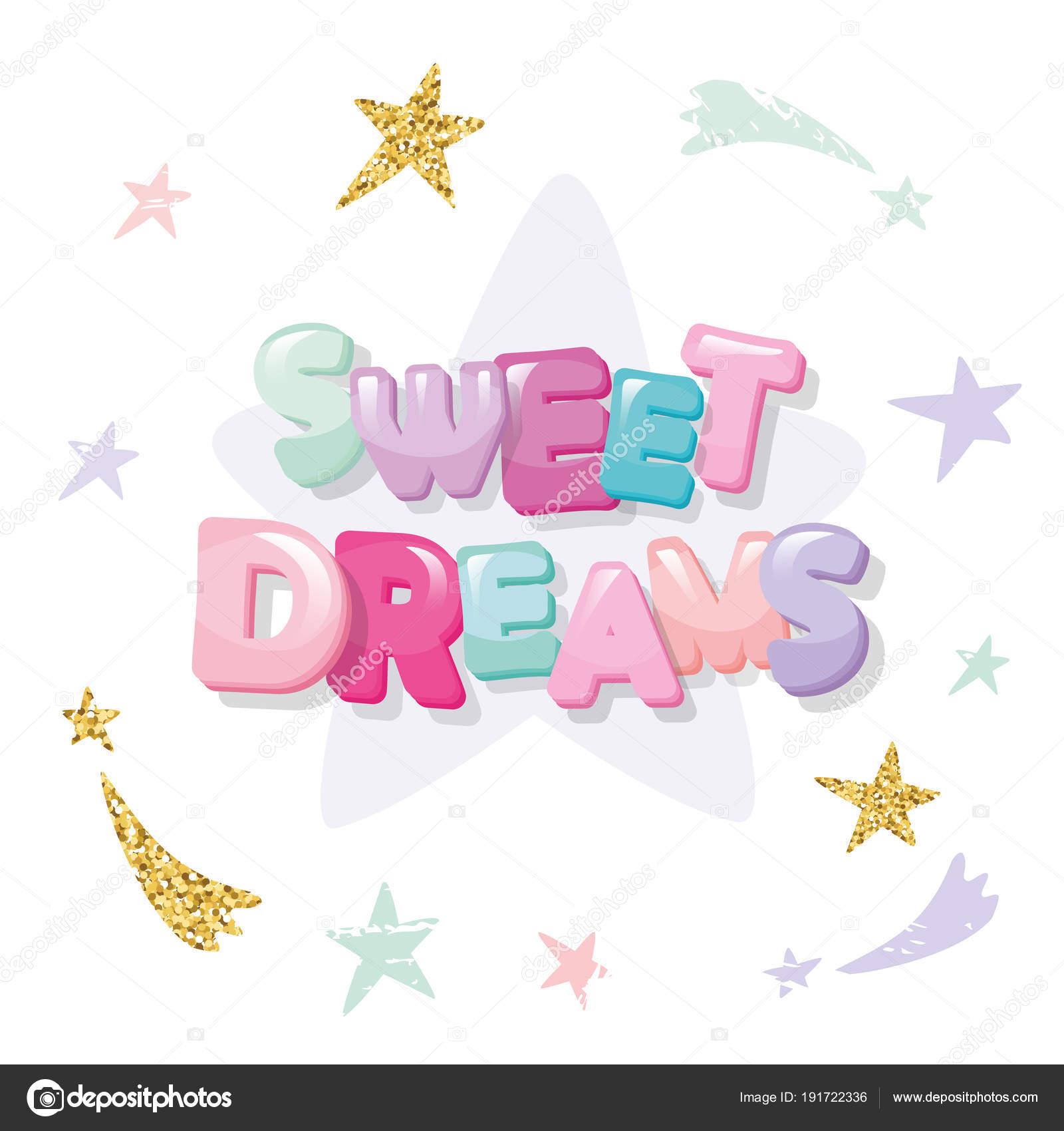Sweet Dreams Cute Design Pajamas Sleepwear Shirts Cartoon Letters ...