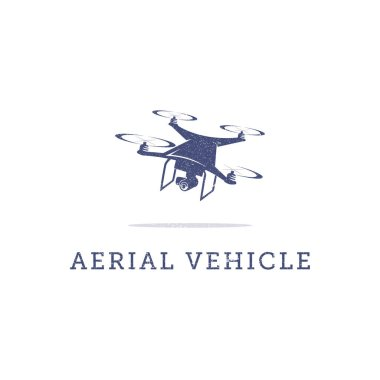 aerial vehicle logo template, drone logo inspiration, drone fly icon set