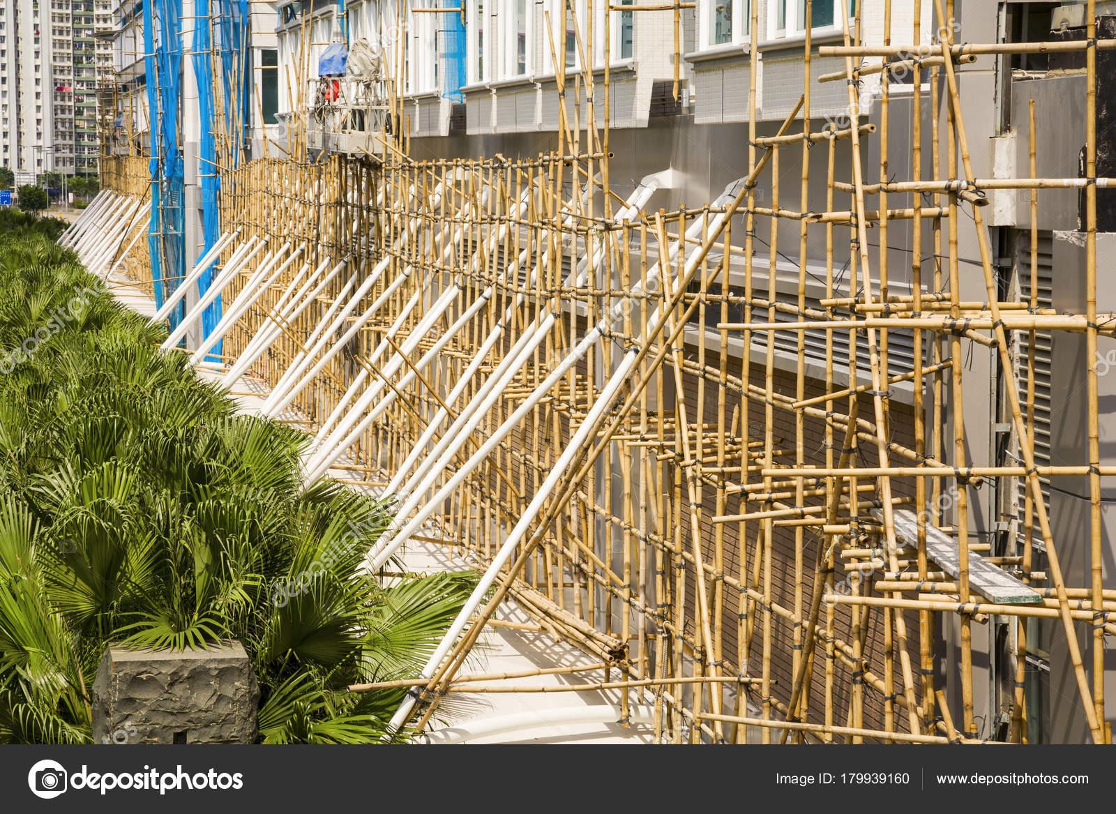 Hong Kong Bambus Gerust Baustelle Stockfoto C Travellinglight