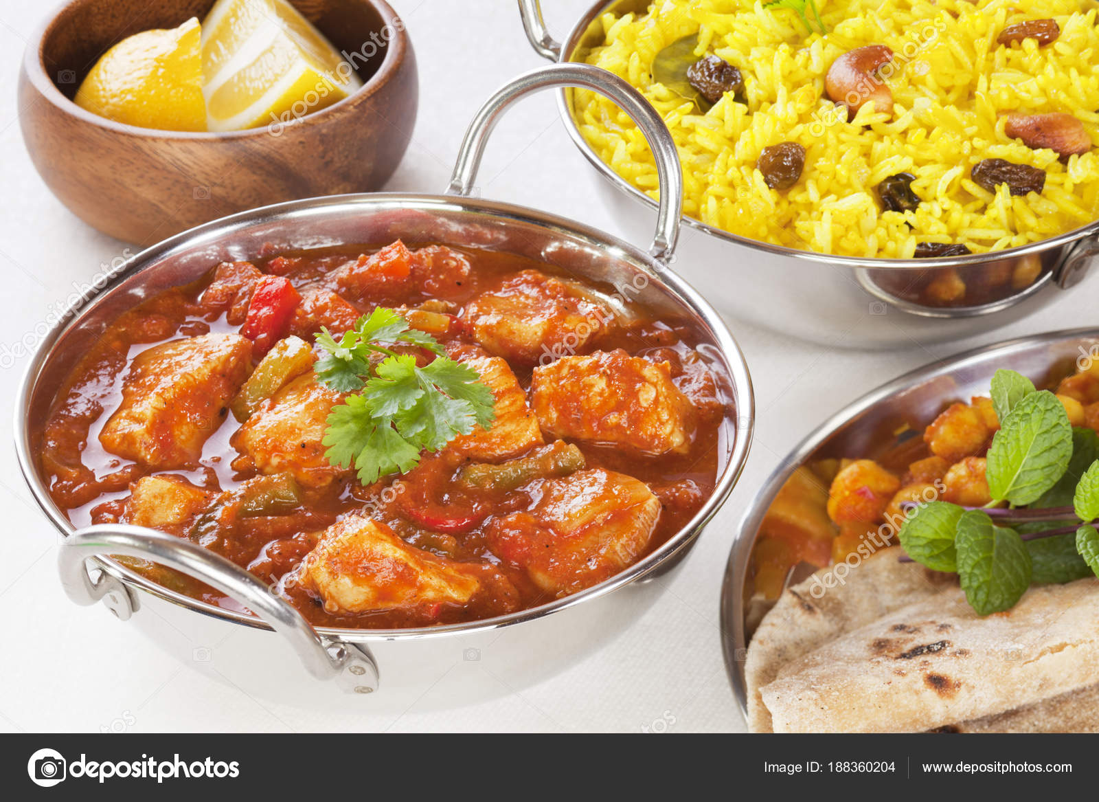 Indian food chicken jalfrezi curry and yellow rice pillau stock indian food chicken jalfrezi curry and yellow rice pillau stock photo forumfinder Choice Image