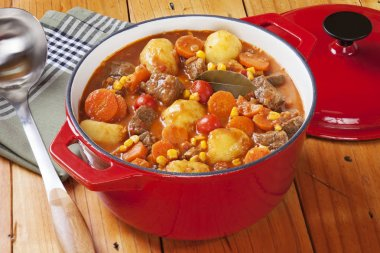 Beef Stew in Red Pot
