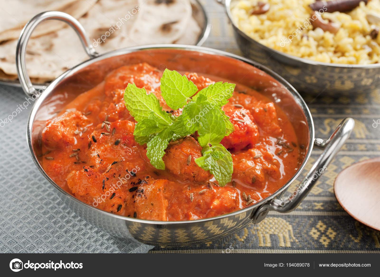 Chicken Tikka Masala Indian Curry Stock Photo