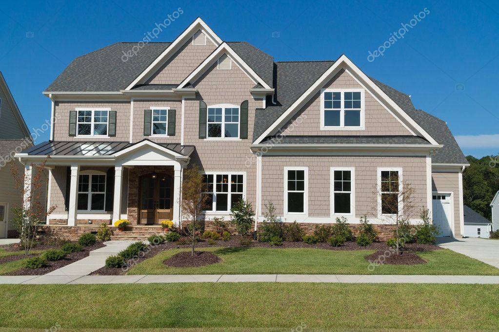 upscale suburban house stock editorial photo kzlobastov 127024130